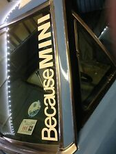 """BECAUSE MINI"" WINDSCREEN /PANEL BUMPER STICKER DECAL GRAPHIC VINYL 550x75mm"