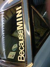 """BECAUSE MINI"" WINDSCHUTZSCHEIBE COOPER BMW AUFKLEBER HALTUNG EURO 550x75mm"