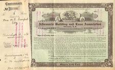 Albemarle Building and Loan Association > 1935 North Carolina stock certificate