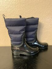 Michael Kors Cabot Quilted Rain Boots Size  6 Admiral Blue