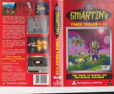 SMARTINS TIMES TABLES 1-12 VIDEO PAL VHS A RARE FIND~