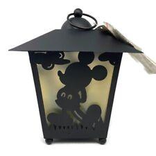 🔴 Metal Disney Mickey Mouse Hanging Luminary Garden Lanterns LED Light Outdoor