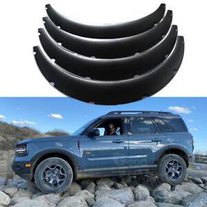 "For Ford Bronco Sport 4Pcs 4.5""/115mm Flexible Car Fender Flares Body Wheel Arch"