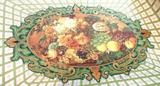 Daher Vintage Lovely Fruits and Flowers Tin Tray 7 7/8 in x 6 in Made in England