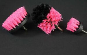 3PCS drill brush HEAVY DUTY(PINK) SEMI-STIFF NEW from US Based seller
