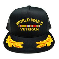 WW2 WORLD WAR 2 VETERAN RIBBON SCRAMBLED EGGS YUPOONG CAP HAT
