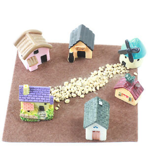 Miniature Houses & Windmill Set for Fairy Gardens by Mowbray Miniatures (8 pcs)