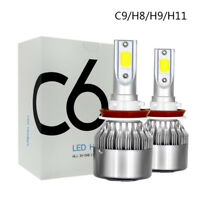 2x H11/H8/H9 72W 16000LM LED Headlight COB Bulbs High Beam Kit White 6000K HID