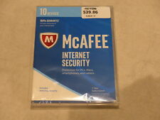 MCAFEE INTERNET SECURITY 2017 10 DEVICES 1 YEAR NEW / SEALED MIS17ESA0RAA