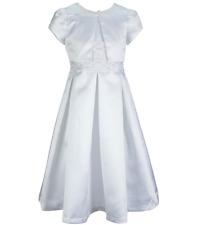 White Flower Girl Dress w/ jackey Bonnie Jean Girls Size 8 Sequin Dress