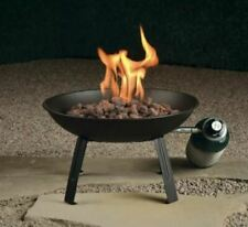 """Campfire Portable 16"""" Gas Fire Pit W/ 6' Propane Adapter & Carrying Bag"""