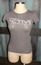 ACTIVE Crossfit Performance Athletic Work Out T Shirt Top S 6 8 Gray LIFE ASRX