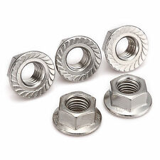 A2 Stainless Steel Metric Flange Serrated Nuts M3 M4 M5 M6 M8 M10 M12 M14 M16