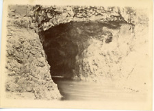 UK, Giants Causeway Cave  Vintage albumen print.  Tirage albuminé  12x17