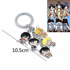 Anime Attack on Titan Shingeki no kyojin Keychain Character Cosplay Key Keyring