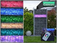 LED Gabionenbeleuchtung für Steinmauer Gabione Zaun! 360° 165cm RGB! IP65  #29