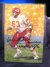 GOAL LINE ART SERIES 5  WILLIE LANIER CHIEFS  HOF SIGNED SET BREAK #/5000