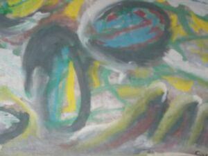 Sybil Gibson folk art painting  Outsider -Abstract #7   16X20