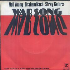 7inch NEIL YOUNG / GRAHAM NASH / STRAY GATORS war song HOLLAND +PS 1972 EX