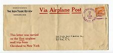 1919 Experimental Flight Air Mail Cover Cleveland->New York AAMC 118d-C1 Perfins