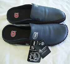 NHL Canadians LEATHER slippers S/G 8 (6) Pantoufles CUIRE LNH Canadiens