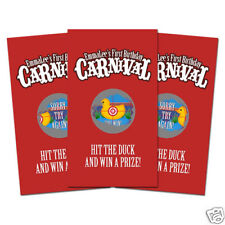 10 Carnival Circus Birthday Party Favors Personalized Scratch Off Games