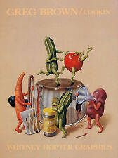 COOKIN' PRINT BY GREG BROWN kitchen funny humor dancing vegetables poster 18x24