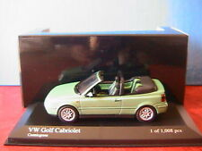 VW VOLKSWAGEN GOLF 3 CABRIOLET 1999 GREEN METAL MINICHAMPS 430058335 1/43 MKIII