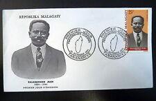 MADAGASCAR  AERIEN 114  PREMIER JOUR FDC      RALAIMONGO JEAN       25F     1971