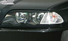 RDX Scheinwerferblenden BMW E46 Limo Touring bis2002 Böser Blick Blenden Spoiler