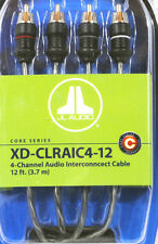 JL AUDIO XD-CLRAIC4-12 4-CHANNEL 12 FEET RCA CABLE FLEX QUAD TWISTED HIGH QUALIT