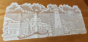 HERITAGE LACE IVORY/CREAM LIGHTHOUSE HARBOR TABLE RUNNER 14X35 ITEM 2970