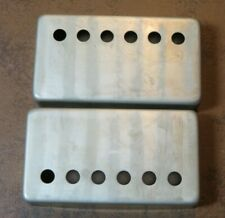 aged Humbucker COVERS fits vintage Gibson PAF style pickups NICKEL (pair) RELIC