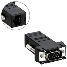 VGA Male to Network Adaptor Extend Video over Network Cat5e Ethernet RJ45 VGA