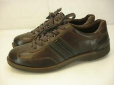 Mens 9 9.5 M sz 43 Ecco Brown Leather Comfort Shoes Oxford Lace-Up Fusion Casual