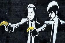 Banksy Pulp fiction BANANAS poster  A2 SIZE