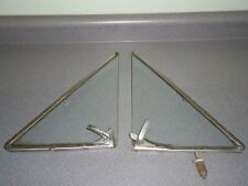 Pair Set of Factory Ford Fomoco Wing Window Windows 1960's Safety Glass AS2