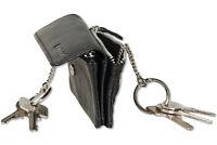Rimbaldi® Schlüsseltasche mit 2 Fächern aus feinem Nappa-Leder in Schwarz