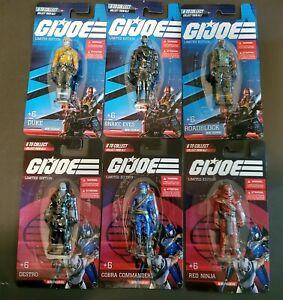 Gi Joe Mini Figurine New LIMITED EDITION Complete Set. 6 Mini Figurine's