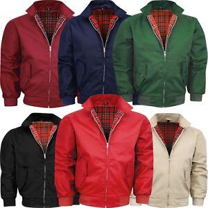Geschenk Herren Harrington Jacket Coat XS-4XL Englander Style Mantel Sommer Jack