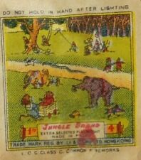 Vintage Jungle Brand Collectible Fireworks Penny Label