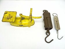 Mixed Lot Three Metal Cast Iron Yellow Black Harper Hanging Scales Parts