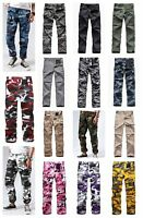 Mens Military Army BDU Camo Pants Casual Outdoor Camp Cargo Pants - 20 Colors