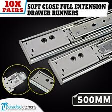 10 x ball bearing drawer runners kitchen vanity 500mm soft close CABINET cupboar