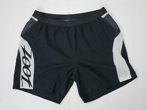 ZOOT SPORTS Athletic Running Shorts Men Women's Large Black/Gray/White With Logo
