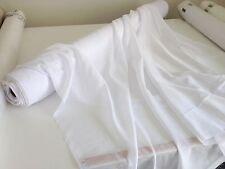 4.6 metres x SEAMIST sheer WHITE curtain fabric material 300cm drop