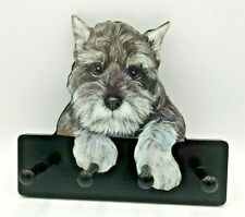 Wooden Terrier Scotty Dog Hat Rack W 4 Pegs For Leashes Keys Scarves Jewelry