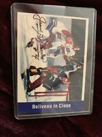 JEAN BELIVEAU SIGNED AUTOGRAPHED 1955-56 PARKHURST REPRINT CARD # 157 IN CLOSE
