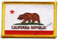 USA California Flag EMBROIDERED PATCH 8x6cm Badge