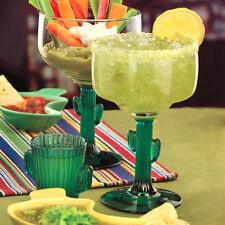 Set of 4 Cactus Margarita Glass 12 oz Libbey 3619JS Juniper Stem